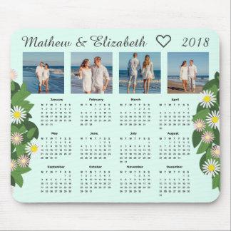 Mousepad Nomes e fotos do casal | 2018 calendários da foto