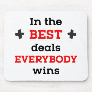 Mousepad Nos melhores negócios todos ganha