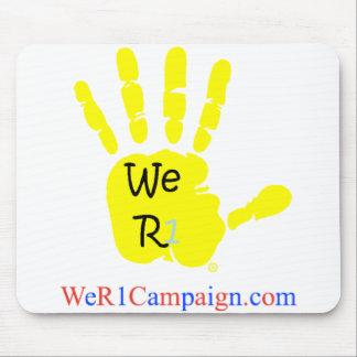 Mousepad Nós tapete do rato amarelo da mão R1