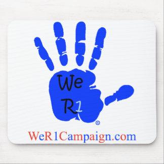 Mousepad Nós tapete do rato azul da mão R1