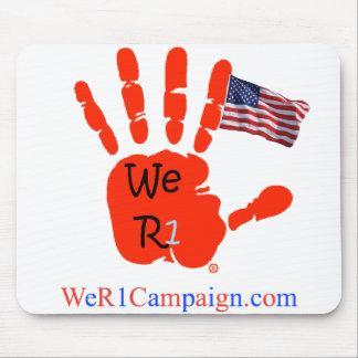 Mousepad Nós tapete do rato da mão da bandeira de R1 EUA