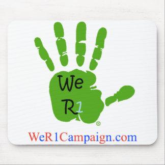 Mousepad Nós tapete do rato verde da mão R1