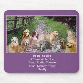 Mousepad Nossa família dos filhotes de cachorro