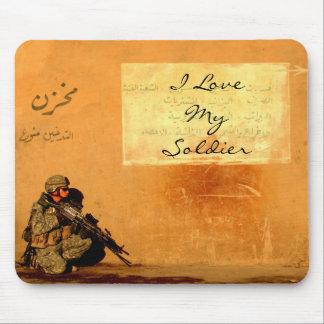 Mousepad Nota do amor no soldado das forças armadas da