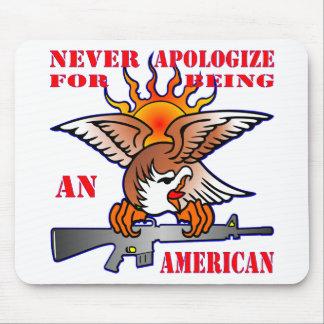 Mousepad Nunca desculpa-se sendo um AR15 americano M16