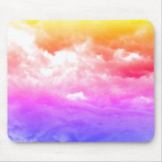 Mousepad Nuvem Multi-Colorida brilhante