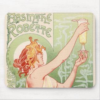 Mousepad O absinto Robette - poster vintage do álcool