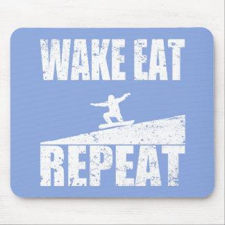 Mousepad O acordar come a repetição #2 do Snowboard