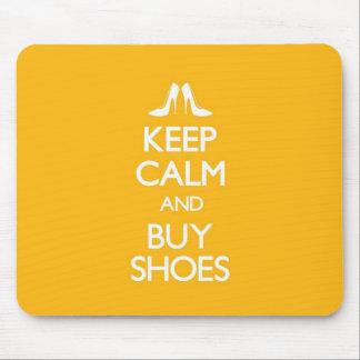 Mousepad O amarelo mantem-se calmo e compra-se calçados