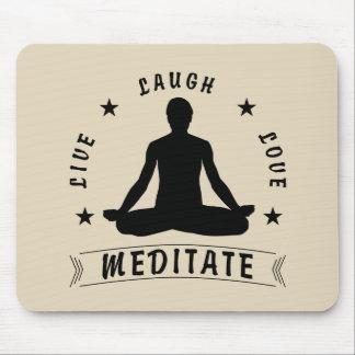 Mousepad O amor vivo do riso Meditate o texto masculino (o