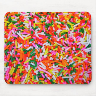 Mousepad O arco-íris polvilha o teste padrão dos doces