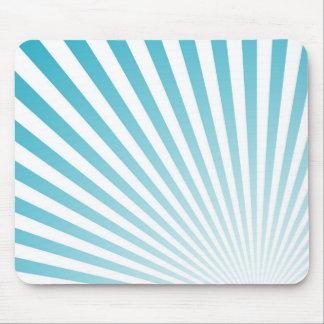 Mousepad O azul-céu retro Sun irradia o fundo
