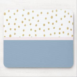 Mousepad O azul francês cora bloco cor-de-rosa da cor do
