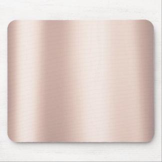 Mousepad O balé perolado do rosa do rosa cora ouro metálico