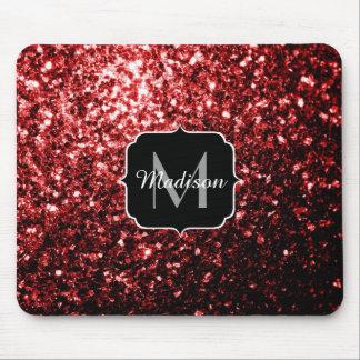Mousepad O brilho vermelho do encanto bonito sparkles