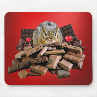 Mousepad O Chipmunk o mais doce do chocolate do dia