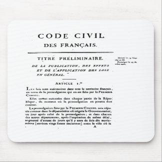 Mousepad O código civil página de France da ?a imprimiu no