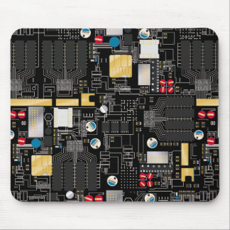 Mousepad O conselho de circuito preto