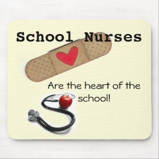 Mousepad O coração da enfermeira da escola do tapete do