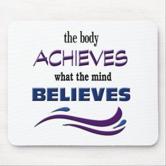 Mousepad O corpo consegue, mente acredita