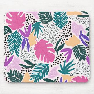 Mousepad O corte dá forma ao tapete do rato tropical do