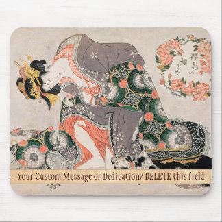Mousepad O Courtesan com a gueixa de Kitagawa Utamaro do