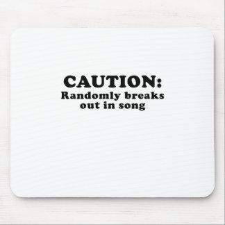 Mousepad O cuidado estoira aleatòria na canção