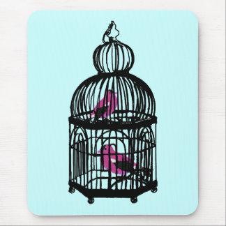 Mousepad O design de Riyah-Li prendeu pássaros