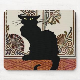 Mousepad O design gótico preto do estilo do gato, conversa