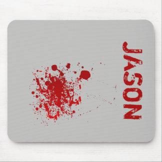 Mousepad O Dia das Bruxas assustador adiciona Splatters do