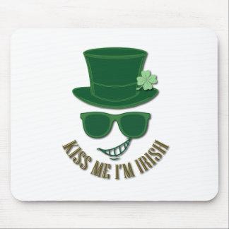 Mousepad O Dia de São Patrício beija-me que eu sou irlandês