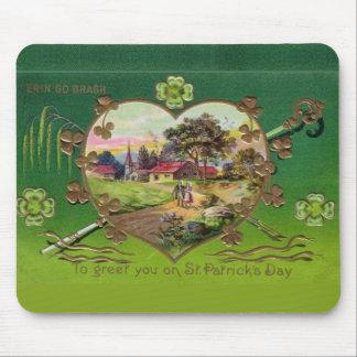 Mousepad O dia retro de St Patrick do irlandês do vintage