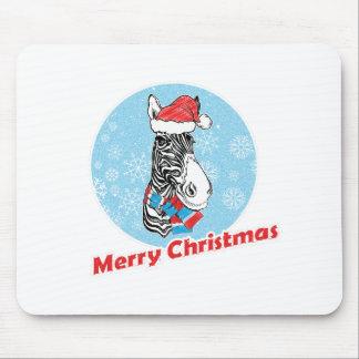 Mousepad O Feliz Natal da zebra