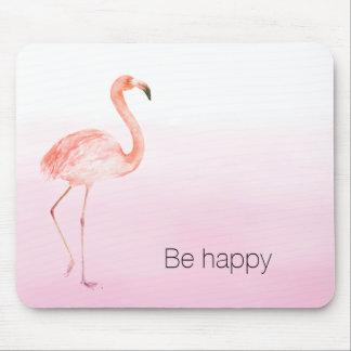 Mousepad O flamingo cor-de-rosa esteja feliz