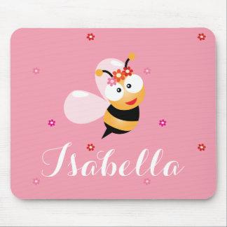 Mousepad O florista cor-de-rosa feminino bonito Bumble