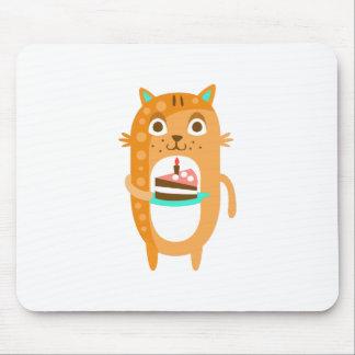 Mousepad O gato com partido atribui a WTI Funky estilizado