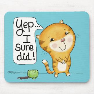 Mousepad O gato de Cattitude- derrama o café