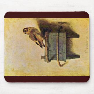 Mousepad O Goldfinch., Puttertje por Carel Fabritius