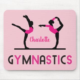 Mousepad O Gymnast figura a ginástica bonito das meninas