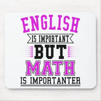 Mousepad O inglês é importante mas a matemática é chalaça