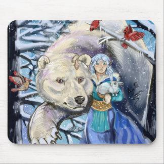 Mousepad O inverno enrola Bear~mousepad polar
