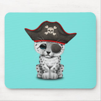 Mousepad O leopardo de neve bonito Cub do bebê pirateia
