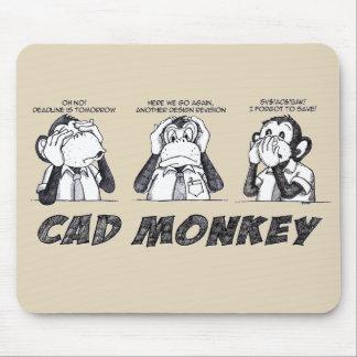Mousepad O macaco do Cad não fala nenhum mau não ouve