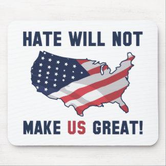 Mousepad O ódio não fará o excelente dos E.U.