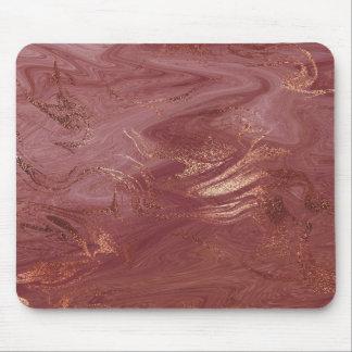 Mousepad O ouro abstrato do rosa do rosa cora mármore