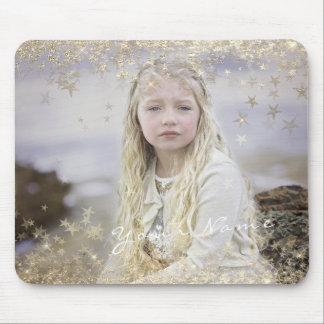 Mousepad O ouro dourado da foto feita sob encomenda