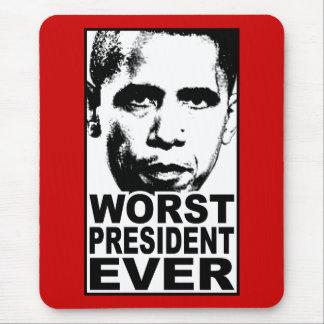 Mousepad O presidente o mais mau Nunca de Obama
