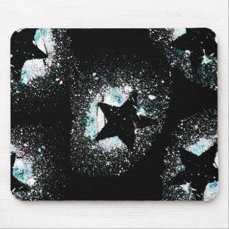 Mousepad O preto Stars o tapete do rato