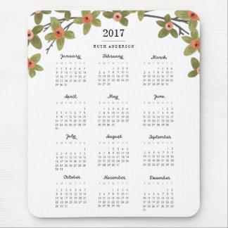 Mousepad O primavera brota o calendário 2017