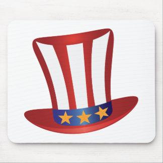 Mousepad O quarto do ouro do chapéu de julho Stars a